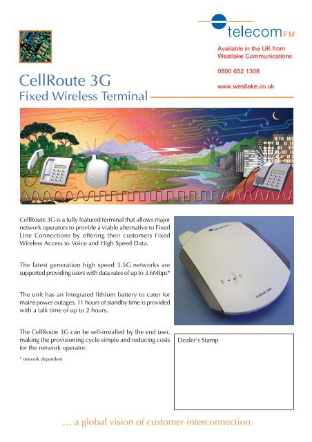 Cellroute 3G - GSM Gateway Fixed Cellular Terminal for use