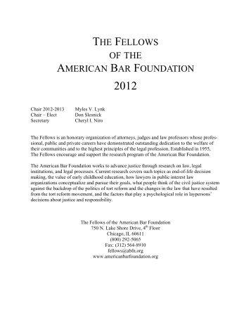 NEW YORK - American Bar Foundation