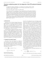 Thomson scattering system for the diagnosis of the ETE spherical ...