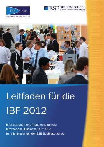 IBF 2012 - International Business Fair ESB Business School ...