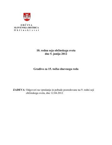 točka - Slovenska Bistrica