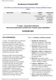 OVZDUŠÍ 2001 - Centrum pro výzkum toxických látek v prostředí