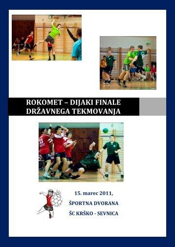 rokomet – dijaki finale državnega tekmovanja - Šport mladih
