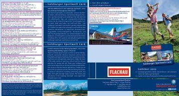 Überblick aller Ermäßigungen mit der Flachau Gästekarte