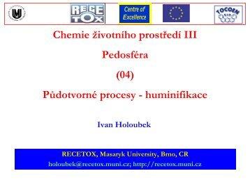 huminifikace - Masaryk University