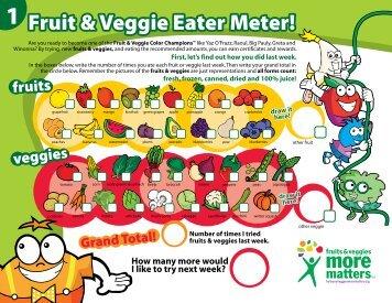 Fruit & Veggie Eater Meter!