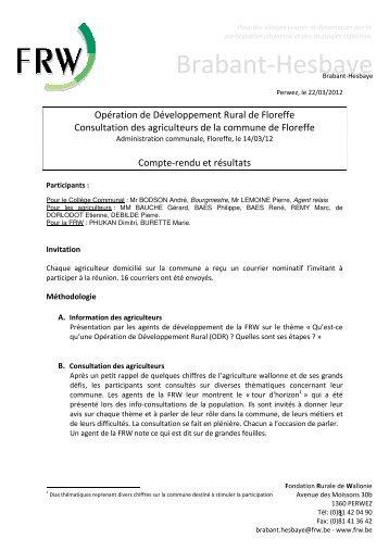 12 03 14 CR consultation agriculteurs.pdf - Floreffe