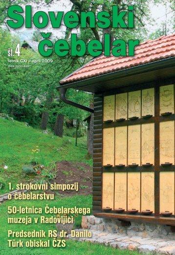 1. strokovni simpozij o čebelarstvu 50-letnica Čebelarskega muzeja ...