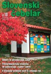 Ovitek 1009.indd - Čebelarska zveza Slovenije