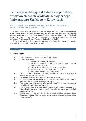 Wskazania techniczno-bibliograficzne