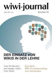 veranstaltungen im november - WiWi-Journal