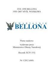 Bellona 1/2012 - Polska Zbrojna