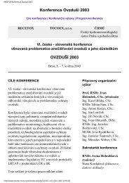 OVZDUŠÍ 2003 - Centrum pro výzkum toxických látek v prostředí