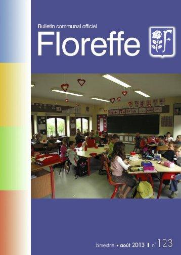 Bulletin communal d'août 2013, n°123 (pdf 1Mo) - Floreffe