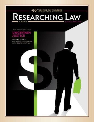 Vol. 19, No. 2, Spring 2008 - American Bar Foundation