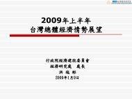 2009年上半年台灣總體經濟情勢展望 - 國家政策研究基金會
