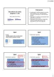Od problema do načrta programa - 3. del Podprogrami Zgled Zgled ...