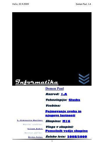 Informatika - II. gimnazija Maribor