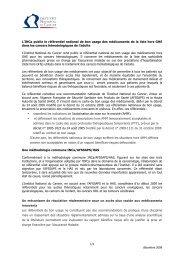 L'INCa publie le référentiel national de bon usage ... - Omedit Centre