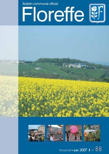 Bulletin communal de Juin 2007, n°88 (pdf 996Ko) - Floreffe