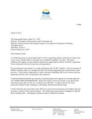 Minister Bell letter - April 24 - The Tyee
