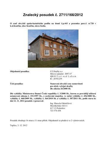 znalecký posudek.pdf - CZ Dražby a.s.