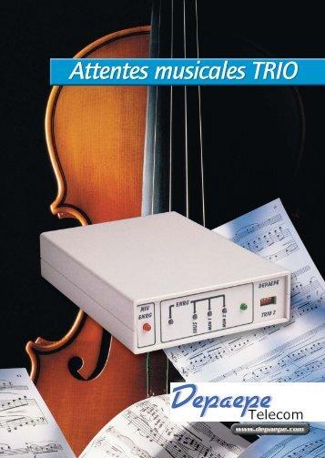 Attentes musicales TRIO - Depaepe