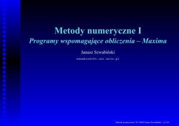 Metody numeryczne I - Panoramix