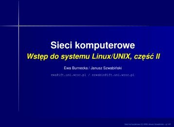 Sieci komputerowe - Panoramix