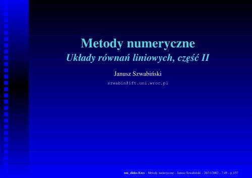 Metody numeryczne - Panoramix