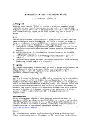 Evidence-Based Medicine in de Klinische Praktijk 30 januari t/m 1 ...