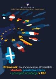 postopkov odločanja EU - Ministrstvo za zunanje zadeve