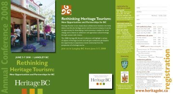 Annual Conference 2008 - Heritage BC