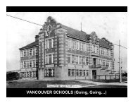 VANCOUVER SCHOOLS (Going, Going…) - Heritage BC