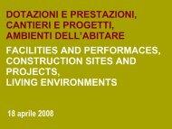dotazioni e prestazioni, cantieri e progetti, ambienti dell'abitare ...