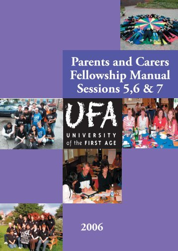 Parents and Carers Fellowship Manual - University of the First Age