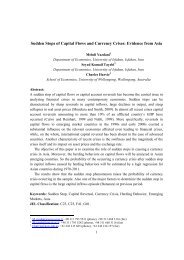 Sudden Stops of Capital Flows and Currency Crises: Evidence from ...