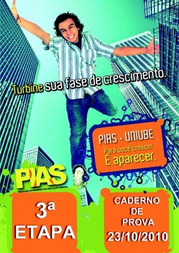 PIAS Programa de Ingresso por Avaliação Seriada 3ª ... - Uniube