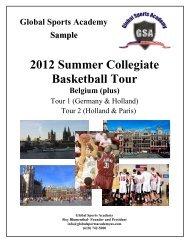 2012 Summer Collegiate Basketball Tour - Global Sports Academy