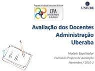 Avaliação dos Docentes Administração Uberaba - Uniube
