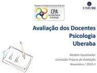 Avaliação dos Docentes Psicologia Uberaba - Uniube