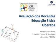 Avaliação dos Docentes Educação Física Uberaba - Uniube