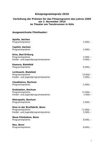 Prämierte Kinos 2010 (PDF)