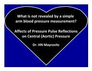 What is not revealed by a simple arm blood pressure ... - Clinsoft.org
