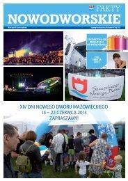 XIV DnI nowego Dworu MazowIeckIego 14 – 22 czerwca 2013 ...