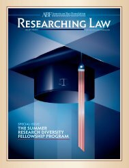 the summer research diversity fellowship program - American Bar ...