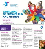 WhirlWind of summer fun and friends - YMCA of Greater Des Moines