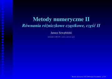 Metody numeryczne II - Panoramix