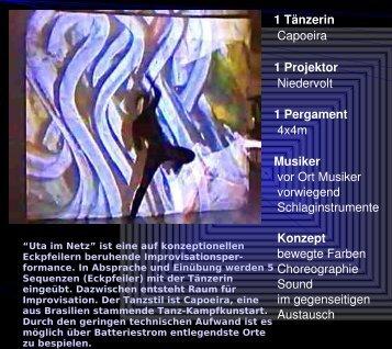 1 Tänzerin Capoeira 1 Projektor Niedervolt 1 Pergament 4x4m ...