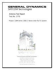 Series 1385 C-band Rx/Tx linear - General Dynamics SATCOM ...